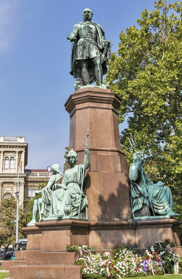 Statue von Istvan Szechenyi in Budapest, Ungarn lizenzfreie stockfotografie