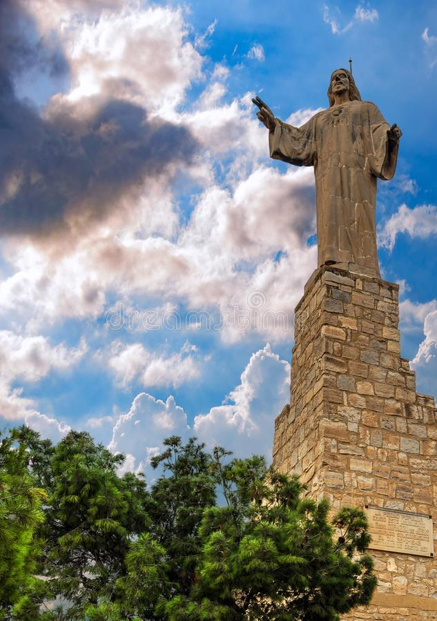 Statue von Jesus Christ in Tudela, Spanien stockfotografie