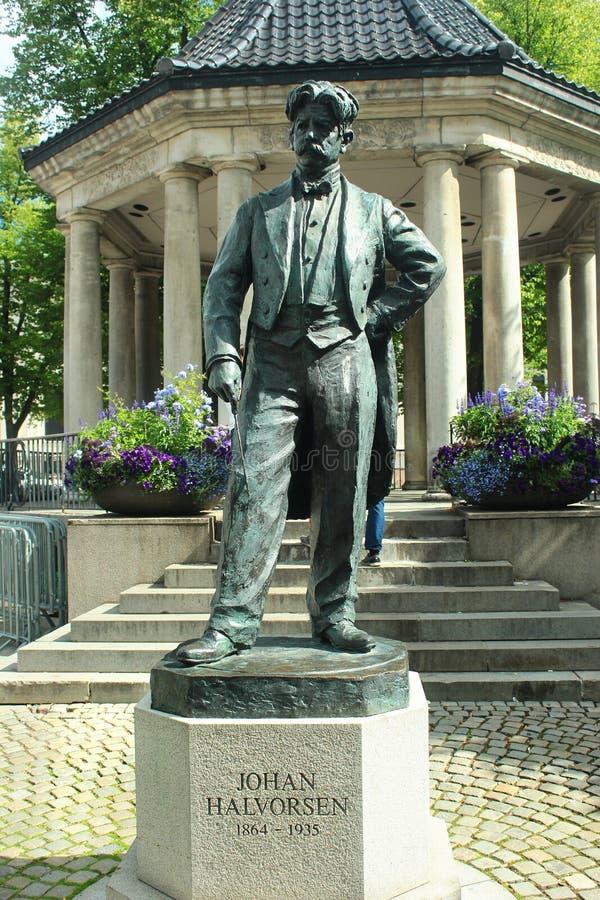 Statue von Johan Halvorsen in Oslo, Norwegen stockfotos