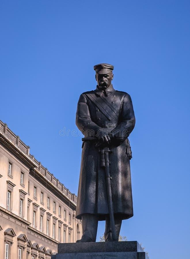 Statue von Jozef Pilsudski stockbild