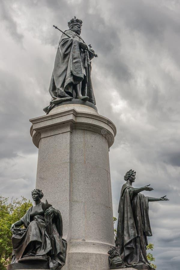 Statue von König Edward VII in Adelaide, Australien lizenzfreie stockfotografie