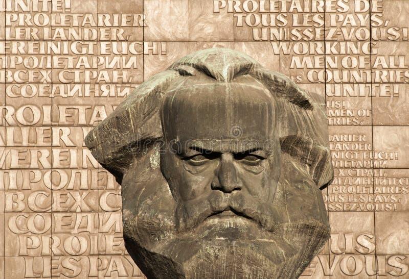 Statue von kommunistischem/sozialistischem Karl Marx in Chemnitz lizenzfreie stockfotografie