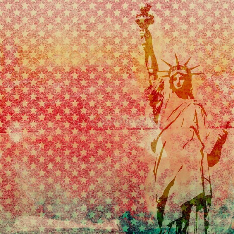 Statue von Liberty Scrapbook Paper stockfotos