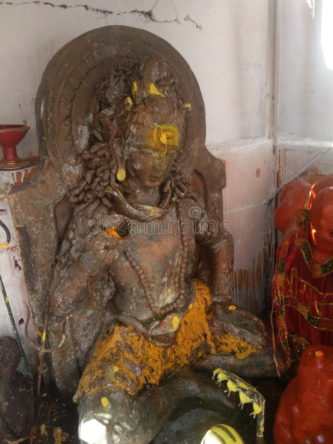 Statue von Lord Shiva stockbild