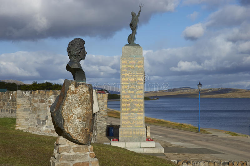 Statue von Margaret Thatcher - Falkland Islands stockbild