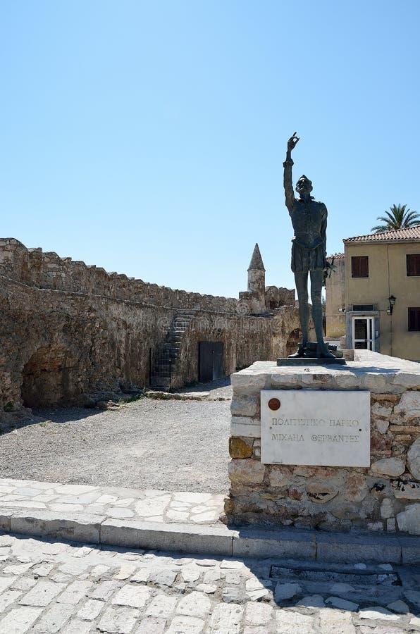 Statue von Miguel de Cervantes lizenzfreies stockfoto