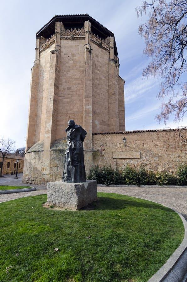 Statue von Miguel de Unamuno lizenzfreie stockfotos