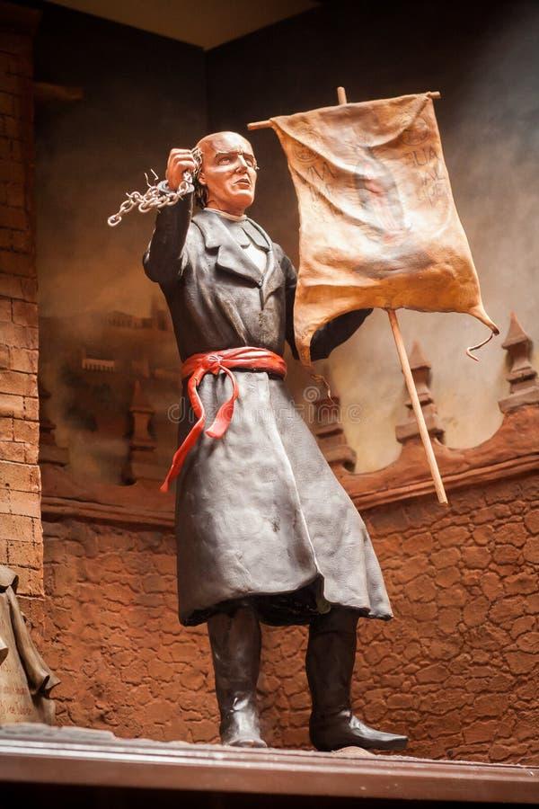 Statue von Miguel Hidalgo y Costilla, Heldunabhängigkeit von Mexic lizenzfreie stockbilder