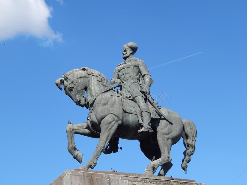 Statue von Mihai Viteazu lizenzfreies stockfoto