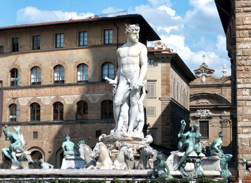 Statue von Neptun in Florenz stockfoto