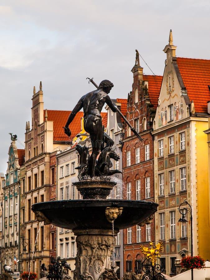 Statue von Neptun in Gdansk lizenzfreie stockfotografie