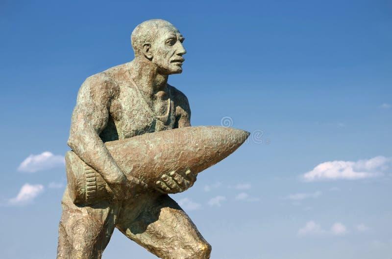 Statue von Obergefreitem Seyit, Canakkale, die Türkei lizenzfreies stockbild
