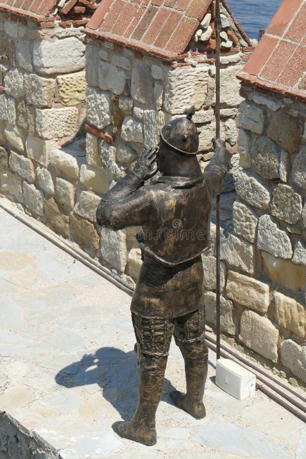 Statue von Otttoman-Krieger lizenzfreie stockfotos