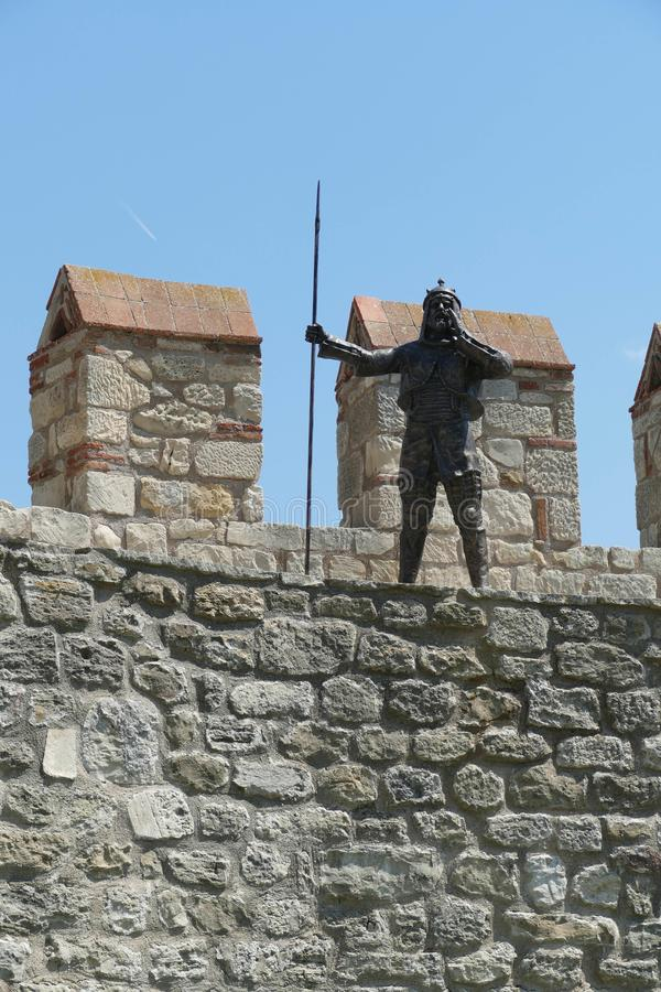 Statue von Otttoman-Krieger stockbilder