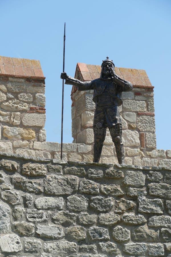 Statue von Otttoman-Krieger stockfotos