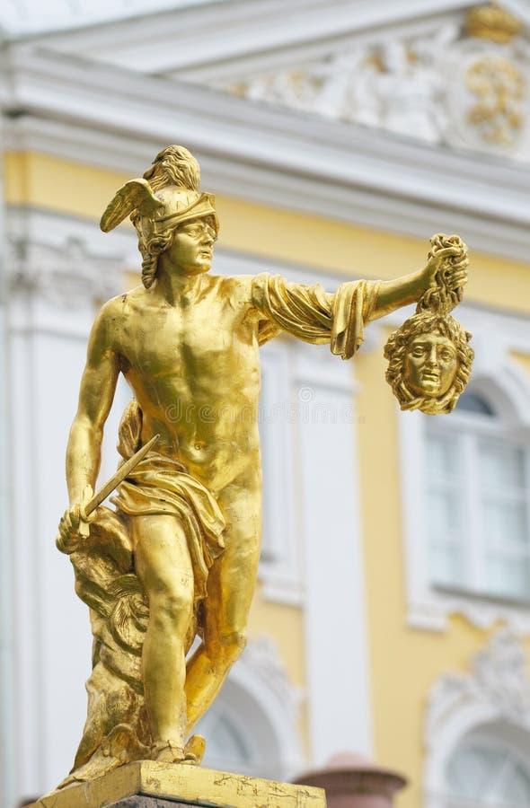 Statue von Perseus mit dem Kopf der gorgon Medusa lizenzfreie stockfotografie