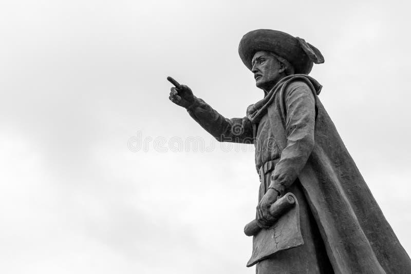 Statue von Prinzen Henry der Navigator in Sagres u. in x28; Portugal& x29; stockfotos