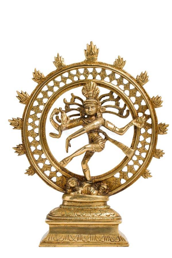 Statue von Shiva Nataraja - Lord des Tanzes getrennt stockfotografie
