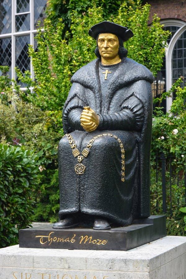 Statue von Sir Thomas More London Gro?britannien lizenzfreie stockfotos