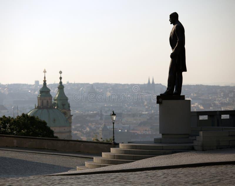 Statue von T.G.Masaryk lizenzfreie stockfotos