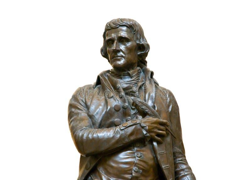Statue von Thomas Jefferson stockfotos