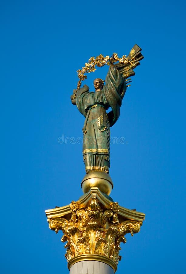 Statue von Unabhängigkeit von Ukraine stockfoto