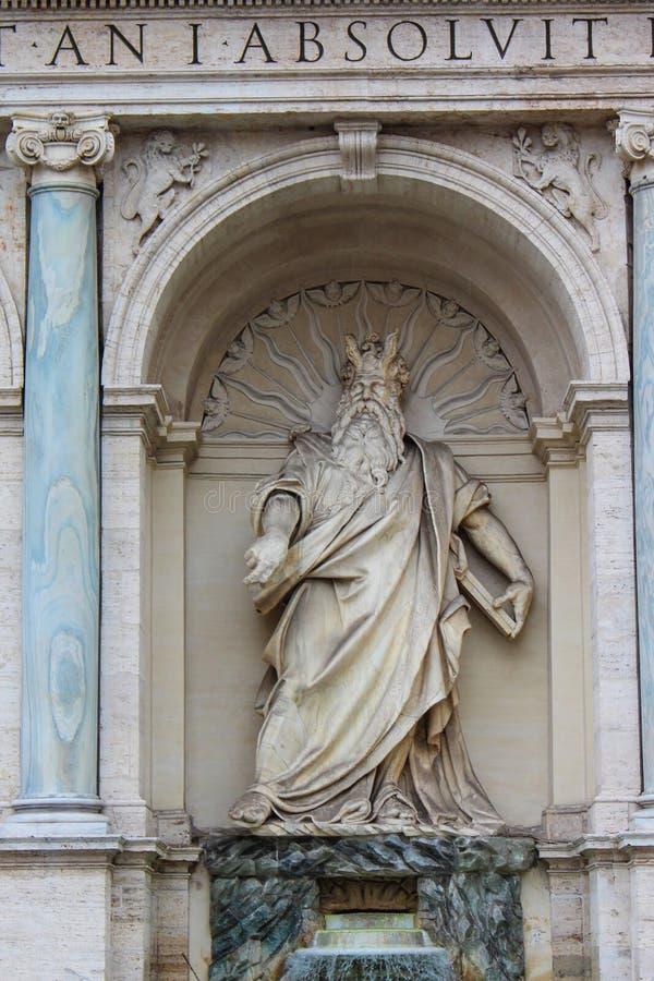Statue von Zeus in Rom lizenzfreie stockfotografie
