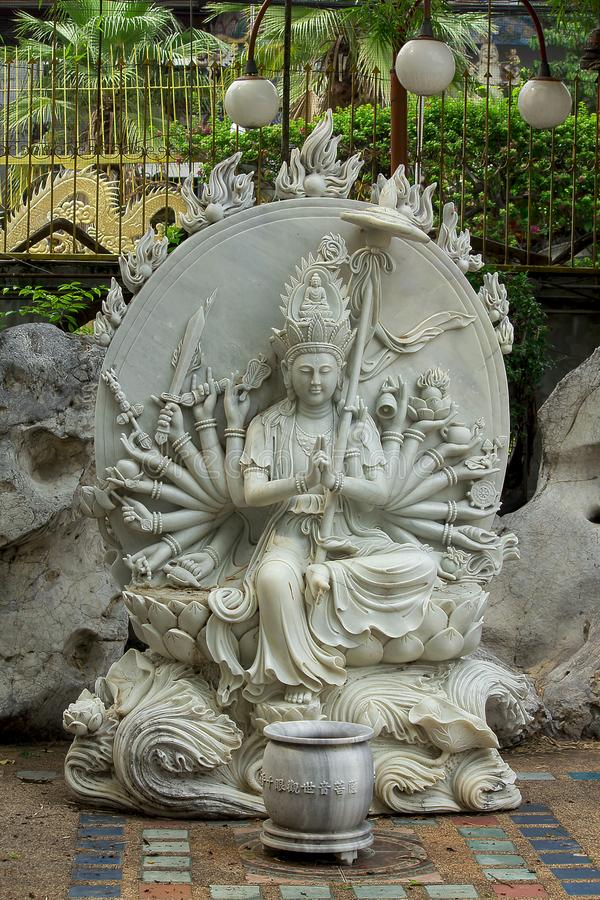 Statues carved from marble in Chinese style are unique. The statue was carved from marble in the form of China is unique royalty free stock images