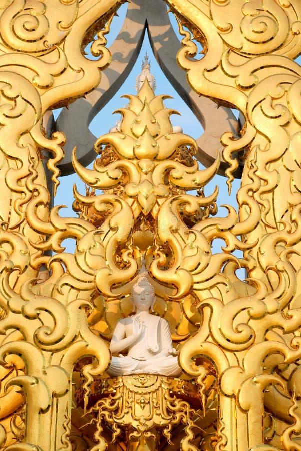 Statue white art Thailand stripes royalty free stock photos