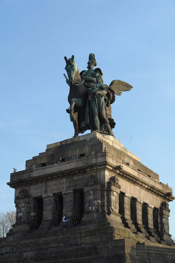 Statue Wilhelm Koblenz royalty free stock photography