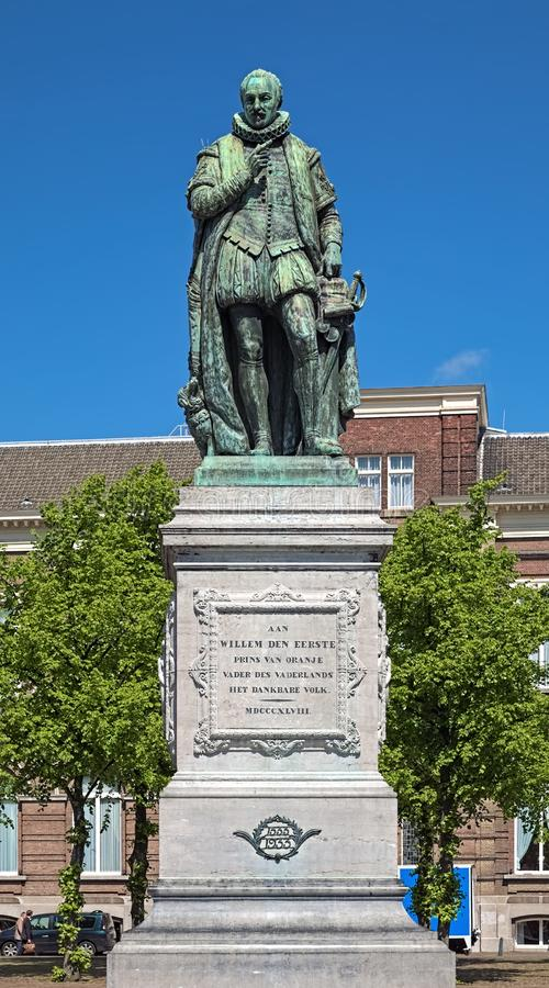 Statue of William I, Prince of Orange on Het Plein square in The Hague, Netherlands stock images