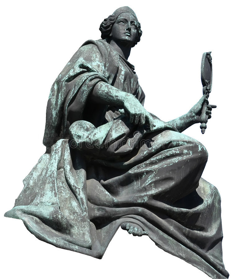 Statue of woman stock photography