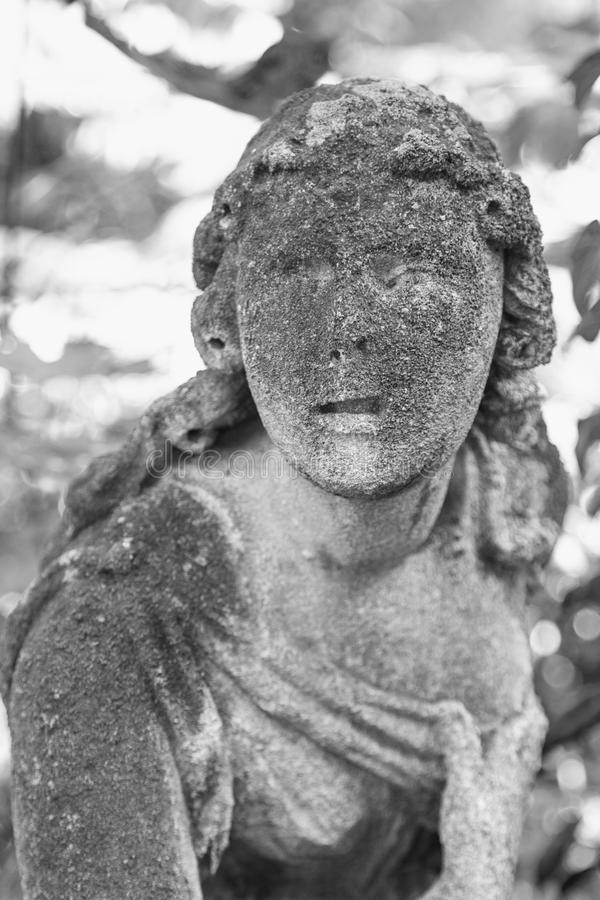 Statue Of Woman On Tomb As A Symbol Of Depression And Sorrow Stock