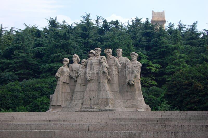 Statuen der Märtyrer, Yuhuatai, Nanjing, China stockfoto