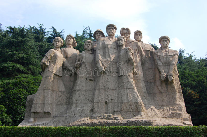 Statuen der Märtyrer, Yuhuatai, Nanjing, China lizenzfreie stockfotos