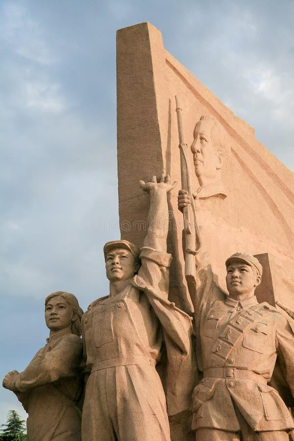Statuen der roten Armee in Peking stockfotografie