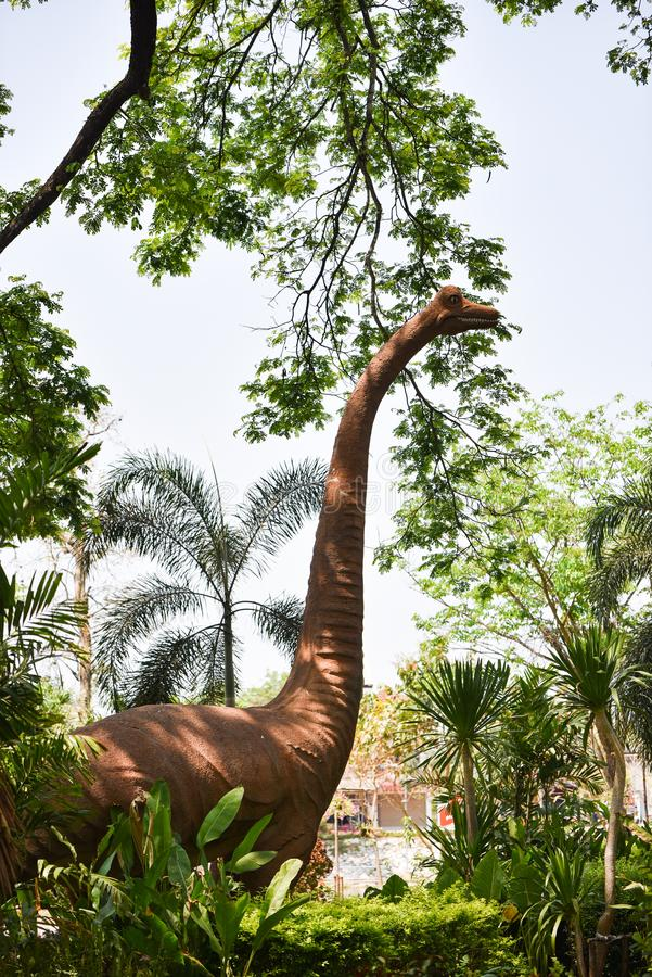 Statuen-Dinosaurier stockfotografie