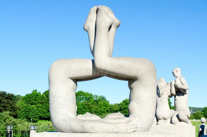 Statuen an Frogner-Park Oslo Norwegen lizenzfreie stockfotos