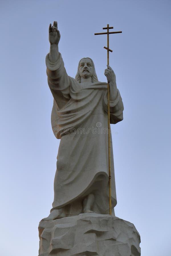 Statuen-Jesus-Kreuzreligion Christentums-Orthodoxie lizenzfreie stockfotos