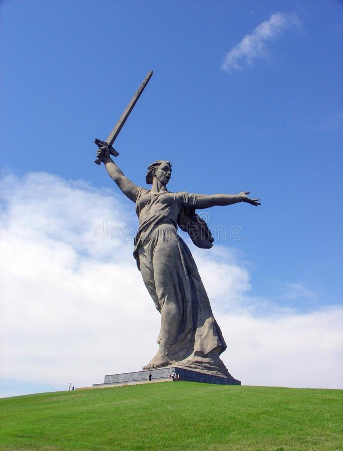 Statuen-Mutterland, Komplex Mamayev Kurgan, Wolgograd, Russland lizenzfreies stockfoto