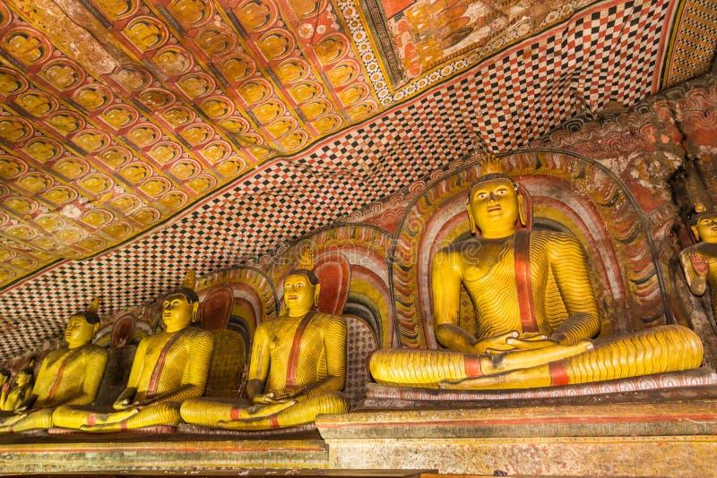 Statuen von Buddha, Dambulla-Höhlen-Tempel, Sri Lanka stockfoto