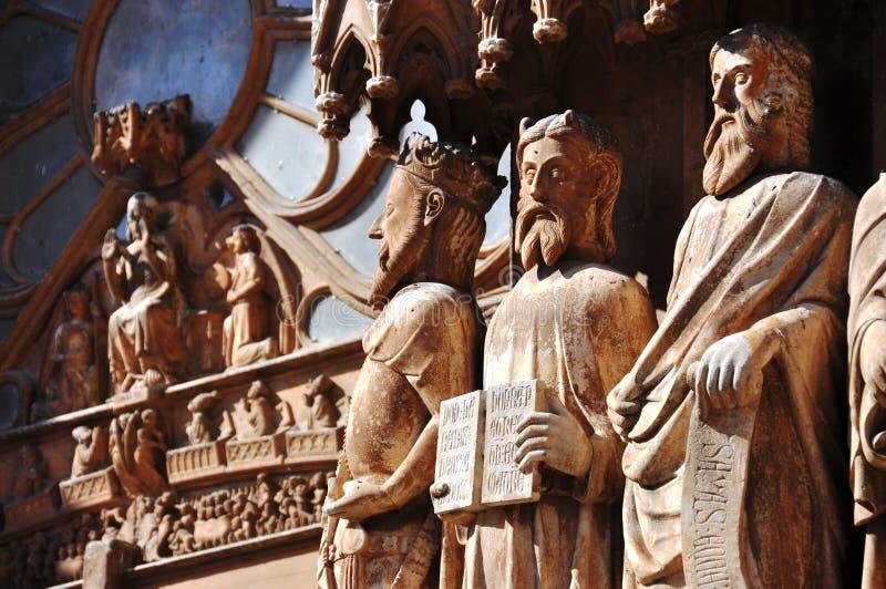 Statues à la cathédrale de Tarazona photos stock