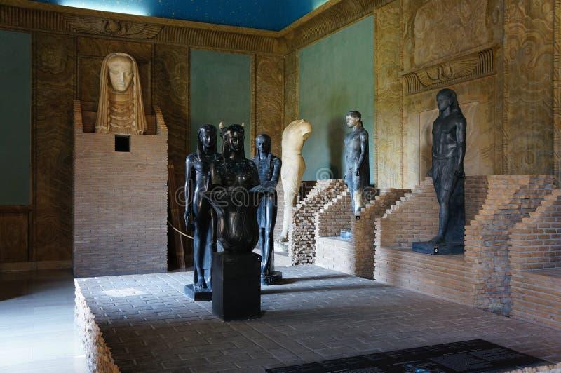 Statues égyptiennes photographie stock libre de droits