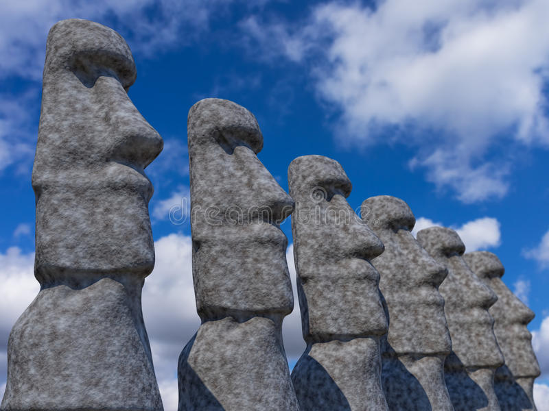 Download Statues stock illustration. Image of travel, large, cloud - 26032974