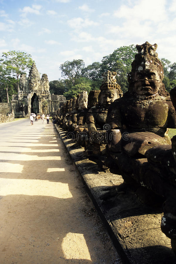 Download Statues- Angkor, Cambodia stock image. Image of mount - 10799405