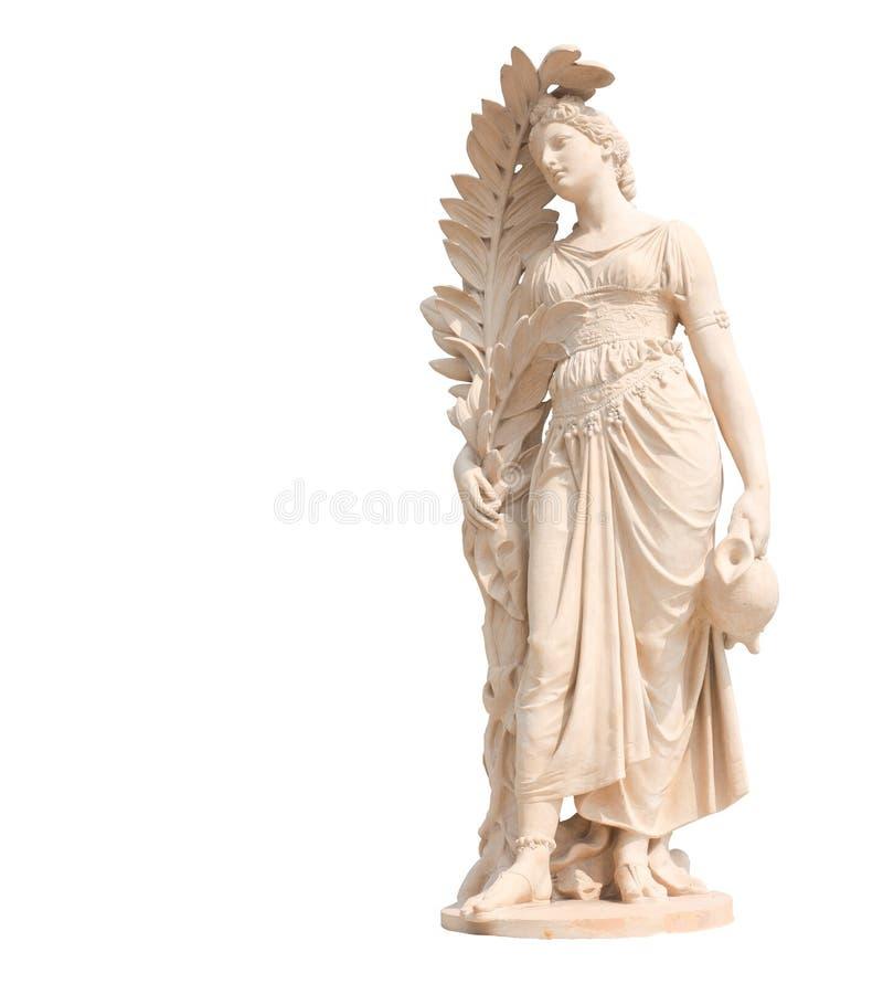 Statues antiques des femmes sur le fond blanc photo libre de droits