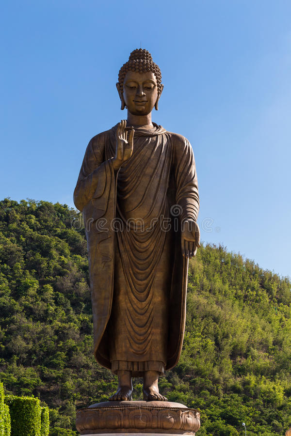 Statues of Buddha at thipsukhontharam in thailand. royalty free stock images