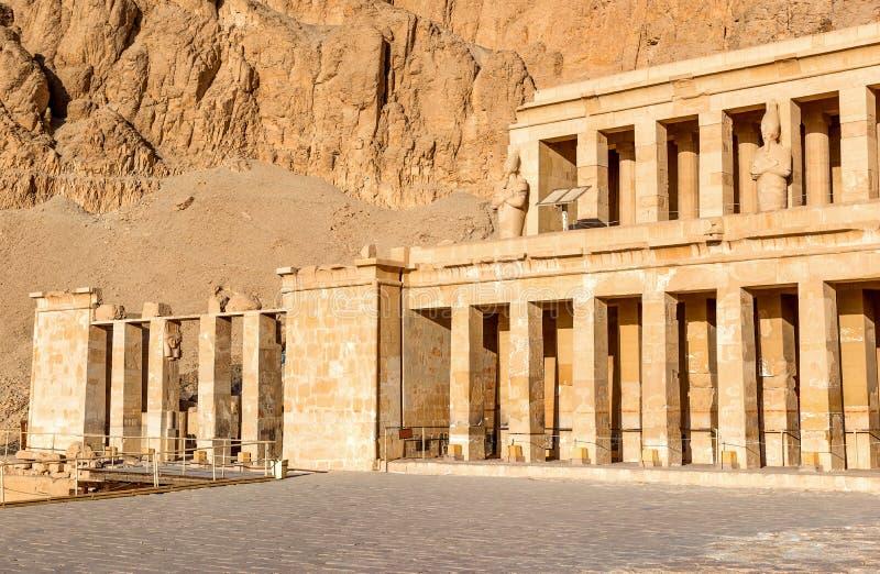 Colonnade in Hatshepsut Temple stock photos