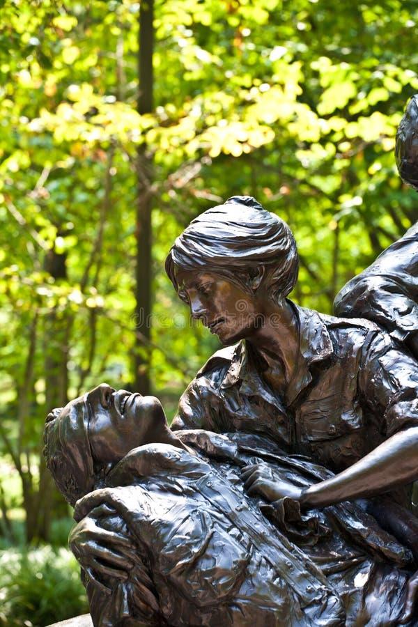 Statues commémoratives à la guerre de Vietnam photographie stock libre de droits