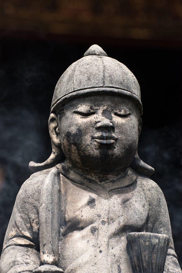 Statues concrètes de vintage en Wat Chai Mongkon - temple bouddhiste, image stock